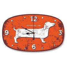 Dachshund USA Wall Clock