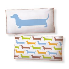 Dachshund Super Long Cotton Boudoir/Breakfast Pillow