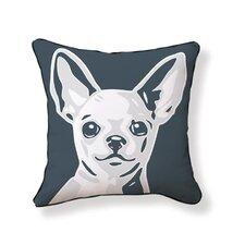Chi Hua Hua Reversible Cotton Throw Pillow