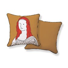 Monalisa Double Sided Cotto Throw Pillow