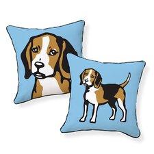 Beagle Cotton Throw Pillow