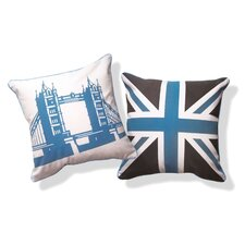 British Invasion Reversible Tower Bridge of London Cotton Throw Pillow