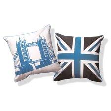 British Invasion Reversible Tower Bridge of London Cotton Throw Pillow