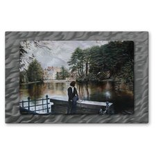 'Belgian Reflections' by Jennifer Lycke Painting Print Plaque
