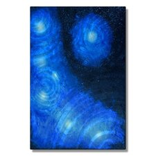 'Nebula' by Melissa Sherowski Painting Print Plaque in Blue