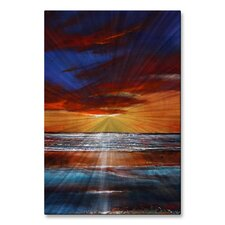 'Reflection Shimmers' by Toni Grote Painting Print Plaque