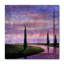 'Lavender Reflections' by Toni Grote Graphic Art Plaque