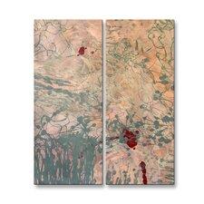 'Upswept' by Mary Lea Bradley 2 Piece Graphic Art Plaque Set