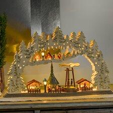 Holzleuchter Weihnachtsmarkt