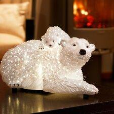 LED-Fiberoptikfigur Polarbären