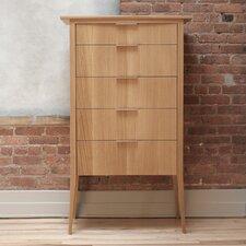 Rift 5 Drawer High Dresser