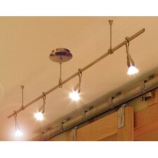 Monorail 4 Light Straight Full Track Lighting Kit