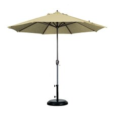 9' Aluminum Market Umbrella with Auto Tilt Crank Lift
