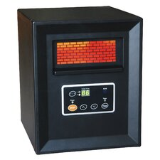 1,500 Watt Portable Electric Infrared Cabinet Heater with Remote Control