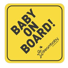 Baby on Board Adhesive Wall Decal