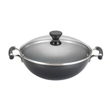 Acclaim Non-Stick Hard-Anodized Wok with Lid