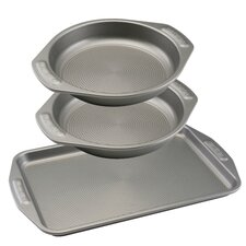 3-Piece Non-Stick Cookie and Cake Set