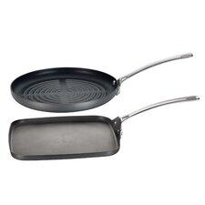 Genesis 2-Piece Non-Stick Grill Pan Set