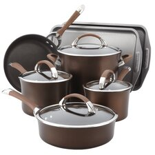 Symmetry Hard Anodized Nonstick 11 Piece Cookware & Bakeware Set