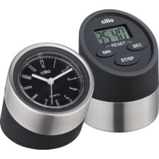 2 Piece Digital Kitchen Timer and Clock Set