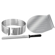 Zenker 3 Piece Layer Cake Slicing Kit Set