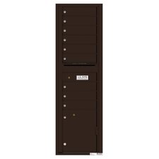 Versatile Wall Mounted Multi-Family Mailbox with Rain Overhang
