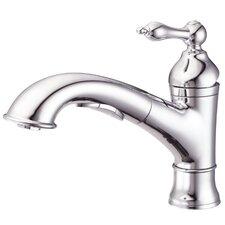 Fairmont Single Handle Deck Mount Kitchen Faucet with 3 Function Spout