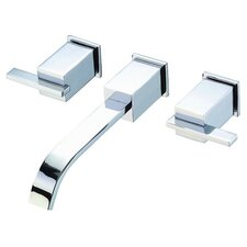 Sirius Double Handle Wall Mount Tub Faucet