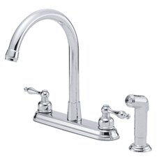 Sheridan Double Handle Deck Mounted Kitchen Faucet with Side Spray