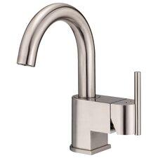 Como Single Handle Single Hole Bathroom Sink with Hot and Cold Markings