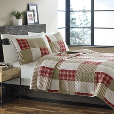Camano Island Cotton Reversible Coverlet Set