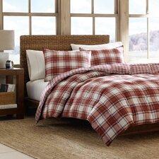 Edgewood 3 Piece Comforter Set in Red