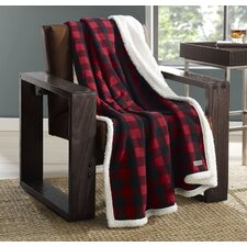 Cabin Plaid Flannel Sherpa Cotton Throw