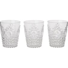 Baroque and Rock Acrylic Water Glass (Set of 4)