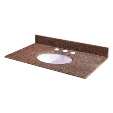 "Terra Cotta Granite 49"" Vanity Top with Sink"