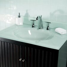 "31"" Glass Vanity Top with Sink"
