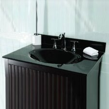 """37"""" Glass Vanity Top with Sink"""