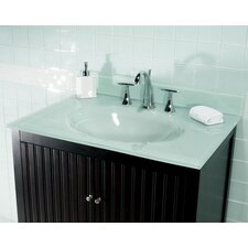 """25"""" Glass Vanity Top with Sink"""