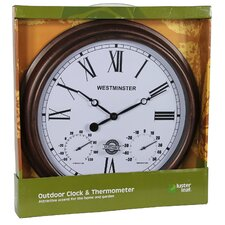 "16.4"" Rust Henley Wall Clock"