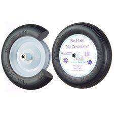 """13"""" Ribbed Flat Free Wheelbarrow Tire"""
