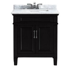"""Blaine 30"""" Single Bathroom Marble Vanity Set"""