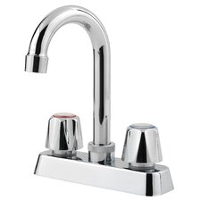 Pfirst Series Double Handle Deck Mounted Bar Faucet