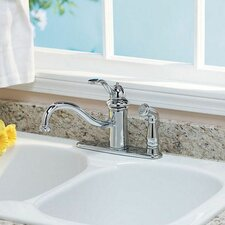 Marielle Single Handle Deck Mounted Kitchen Faucet with Side Spray