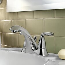 Serrano Double Handle Centerset Standard Bathroom Faucet with Drain Assembly