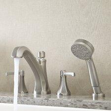 Arterra  Double Handle Complete Roman Tub Trim with Handheld Shower
