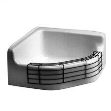 "28"" x 28"" Florwell Cast Iron Service Bathroom Sink"