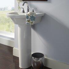Tropic Petite Pedestal Bathroom Sink Set