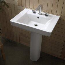 "Boulevard 35.5"" Pedestal Sink with Overflow"