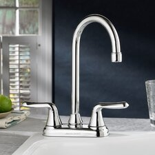 Colony Soft Two Handle Centerset Bar Faucet with Metal Lever Handles