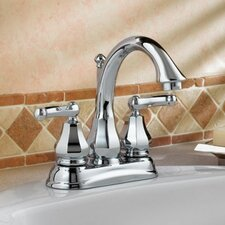 Dazzle Centerset Bathroom Faucet with Double Lever Handles